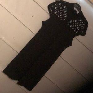 Black Open Top Dress
